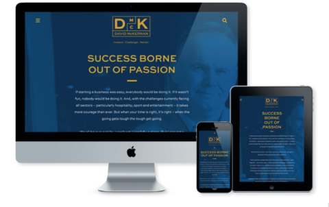David McKernan Website on Various Devices